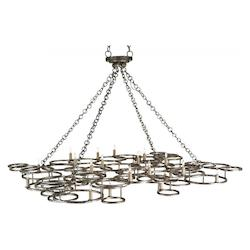 Currey Annatto Antique Silver Catalyst 24 Light Chandelier