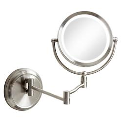 Swing Arm Led Lighted Magnifier Makeup Mirror
