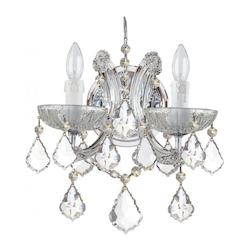 Crystorama Crystorama Maria Theresa 2 Light Clear Italian Crystal Chrome Sconce Ii