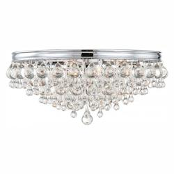 Crystorama Crystorama Calypso 6 Light Crystal Teardrop Chrome Ceiling Mount
