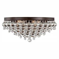 Crystorama Crystorama Calypso 6 Light Crystal Teardrop Vibrant Bronze Ceiling Mount