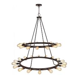 Crystorama Crystorama Dakota 33 Light Bronze Chandelier