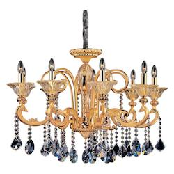 Kalco Allegri Legrenzi 9 Light Chandelier W/Two-Tone Gold 24/K