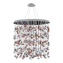 Kalco Allegri Rubens 36In. X 59In.Oval Convertible/Round Pendant Or Flush Mount