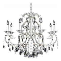 Kalco Allegri Cesti 8 Light Chandelier W/Silver