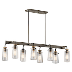 Kichler Olde Bronze Braelyn 8 Light 1 Tier Chandelier