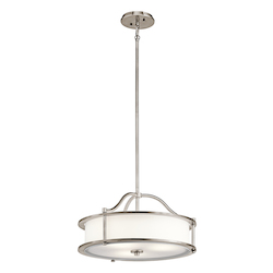 Kichler Classic Pewter Emory 4 Light 1 Tier Chandelier