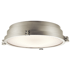 Kichler Brushed Nickel Hatteras Bay Led Flush Mount Ceiling Fixture