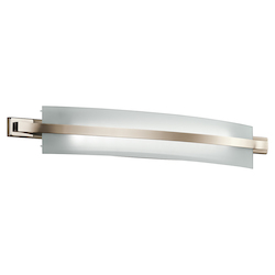 Kichler Polished Nickel Freeport Led Bathroom Vanity Light
