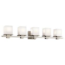 Kichler Antique Pewter Tully 5 Light Bathroom Vanity Light