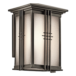 Kichler Olde Bronze Portman Square 1 Light Outdoor Wall Sconce
