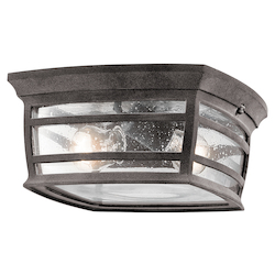 Kichler Weathered Zinc Mcadams 2 Light Outdoor Flush Mount Ceiling Fixture