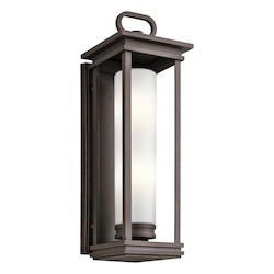 Kichler Rubbed Bronze South Hope 2 Light Outdoor Wall Sconce