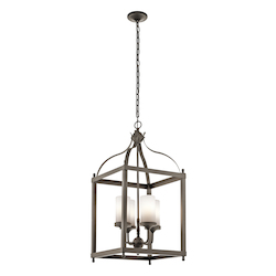 Kichler Olde Bronze Larkin 4 Light 1 Tier Outdoor Chandelier