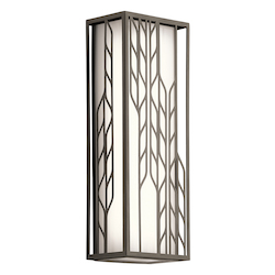 Kichler Olde Bronze Magnolia Led Outdoor Wall Sconce