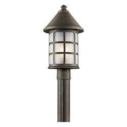 Kichler Olde Bronze Town Light 1 Light Outdoor Post Light