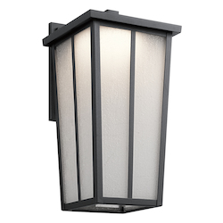 Kichler Textured Black Amber Valley Led Outdoor Wall Sconce