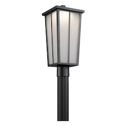 Kichler Textured Black Amber Valley Led Outdoor Post Light