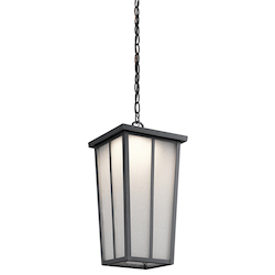 Kichler Textured Black Amber Valley Led Outdoor Pendant