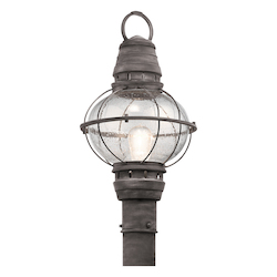 Kichler Weathered Zinc Bridge Point 1 Light Outdoor Post Light