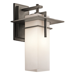 Kichler Olde Bronze Caterham 1 Light Outdoor Wall Sconce