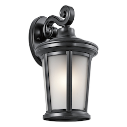 Kichler Black Turlee 1 Light Outdoor Wall Sconce
