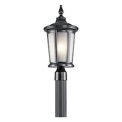 Kichler Black Turlee 1 Light Outdoor Post Light