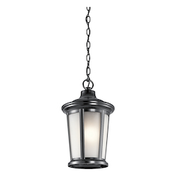 Kichler Black Turlee 1 Light Outdoor Pendant