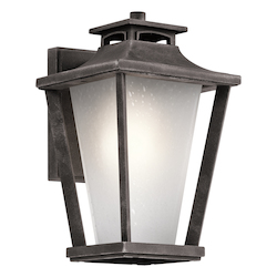 Kichler Weathered Zinc Sumner Court 1 Light Outdoor Wall Sconce