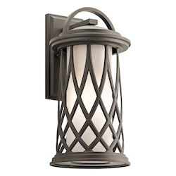 Kichler Olde Bronze Pebble Lane 1 Light Outdoor Wall Sconce