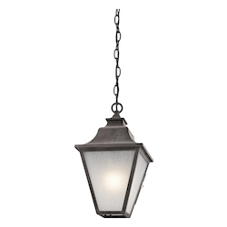 Kichler Weathered Zinc Northview 1 Light Outdoor Pendant