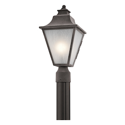 Kichler Weathered Zinc Northview 1 Light Outdoor Post Light