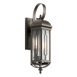 Kichler Olde Bronze Galemore 2 Light Outdoor Wall Sconce