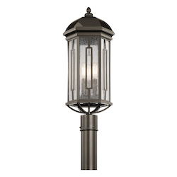 Kichler Olde Bronze Galemore 3 Light Outdoor Post Light