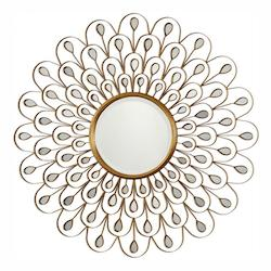 Uttermost Uttermost Golden Peacock Mirror