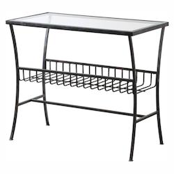 Uttermost Tito Aged Iron Magazine Table