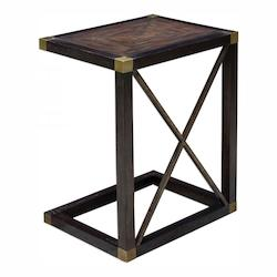 Uttermost Kendi Dusty Black Side Table