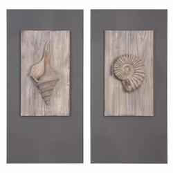 Uttermost Shell Sculpture Art, S/2
