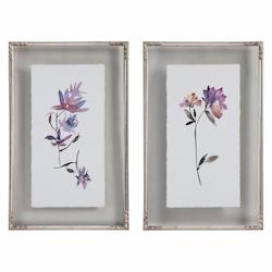 Uttermost Floral Watercolors Art, S/2