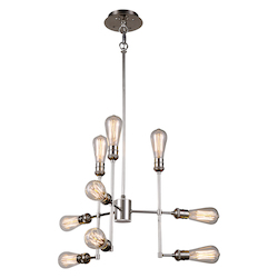 Urban Classic 1139 Ophelia Collection Pendant Lamp L:23In W:23In H:17.5In Lt:9 Polished Nickel