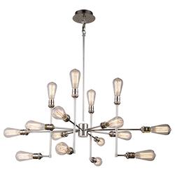 Urban Classic 1139 Ophelia Collection Pendant Lamp L:43In W:43In H:17.5In Lt:15 Polished Nicke