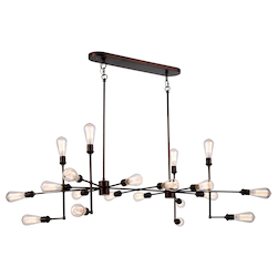 Urban Classic 1139 Ophelia Collection Pendant Lamp L:49In W:30.5In H:17.5In Lt:20 Cocoa Brown