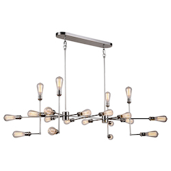 Urban Classic 1139 Ophelia Collection Pendant Lamp L:49In W:30.5In H:17.5In Lt:20 Polished Nic