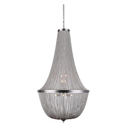 Urban Classic 1210 Paloma Collection Pendant Lamp D:30In H:49.5In Lt:10 Pewter Finish
