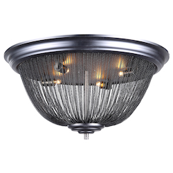Urban Classic 1210 Paloma Collection Flush Mount D:24In H:11.5In Lt:4 Dark Grey Finish