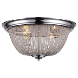 Urban Classic 1210 Paloma Collection Flush Mount D:24In H:11.5In Lt:4 Pewter Finish
