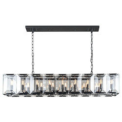 Urban Classic 1212 Monaco Collection Pendant Lamp L:62In W:13In H:12In Lt:18 Flat Black (Matte