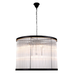 Urban Classic 1217 Royale Collection Pendant Lamp D:35.5In H:26In Lt:9 Mocha Brown Finish