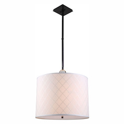 Urban Classic 1445 Gemma Collection Pendant Lamp D:22In. H:51.5In. Lt:2 Bronze Finish