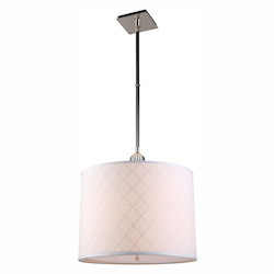 Urban Classic 1445 Gemma Collection Pendant Lamp D:22In. H:51.5In. Lt:2 Polished Nickel Fi